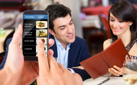 Handheld Ordering on Smartphones for Restaurants and Cafes